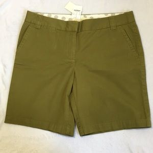 J Crew Womens City Fit Shorts Green Size 12